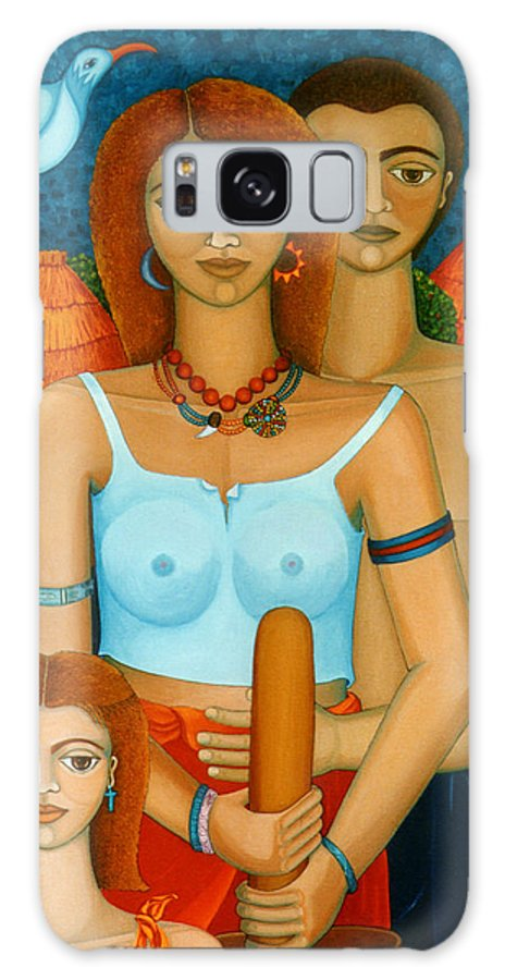 Ages Galaxy Case featuring the painting 3 Ages Of A Woman And A Man by Madalena Lobao-Tello
