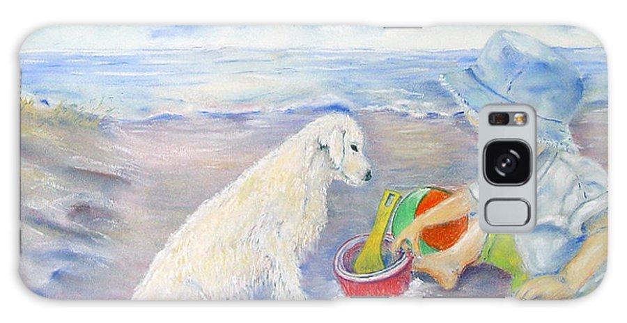 Boy Galaxy S8 Case featuring the painting Beach Boy by Loretta Luglio