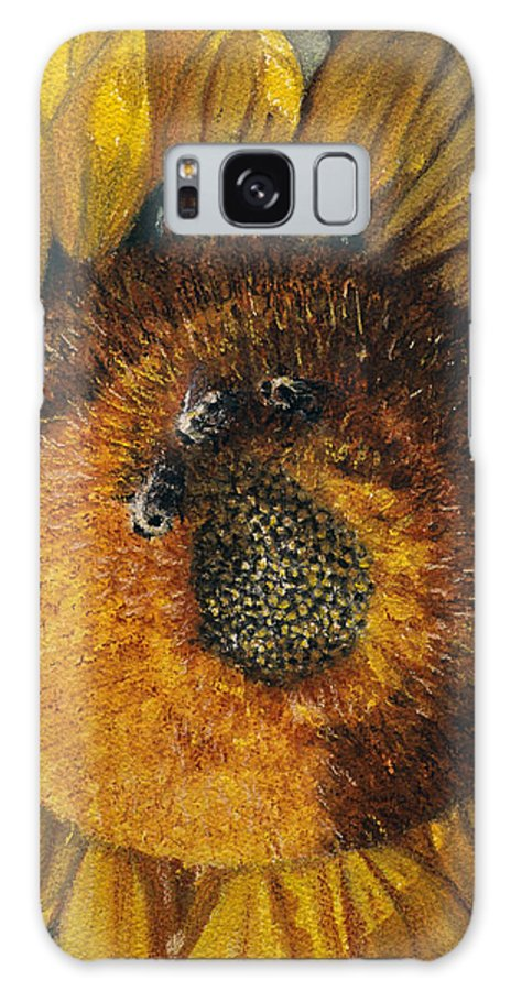 Floral Galaxy Case featuring the painting 3 Bees by Peter Muzyka