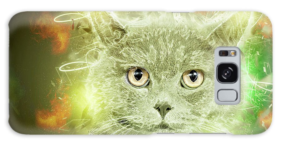 British Shorthair Galaxy S8 Case featuring the photograph British Shorthair Cat by Humourous Quotes