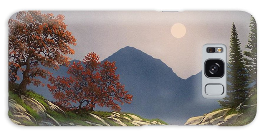 Mountains Galaxy Case featuring the painting By The Light Of The Moon by Frank Wilson