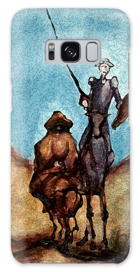 Don Quixote Galaxy S8 Case featuring the painting Don Quixote by Kevin Middleton