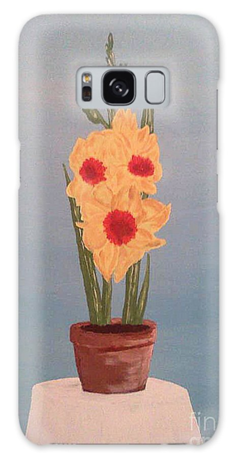Flowers Galaxy S8 Case featuring the drawing Flower by Sherri Gill