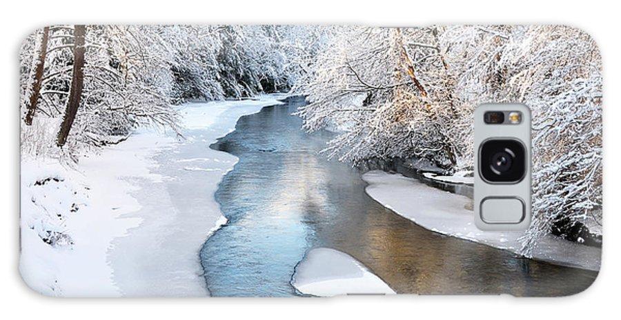West Virginia Galaxy S8 Case featuring the photograph Fresh Snowfall Gauley River by Thomas R Fletcher