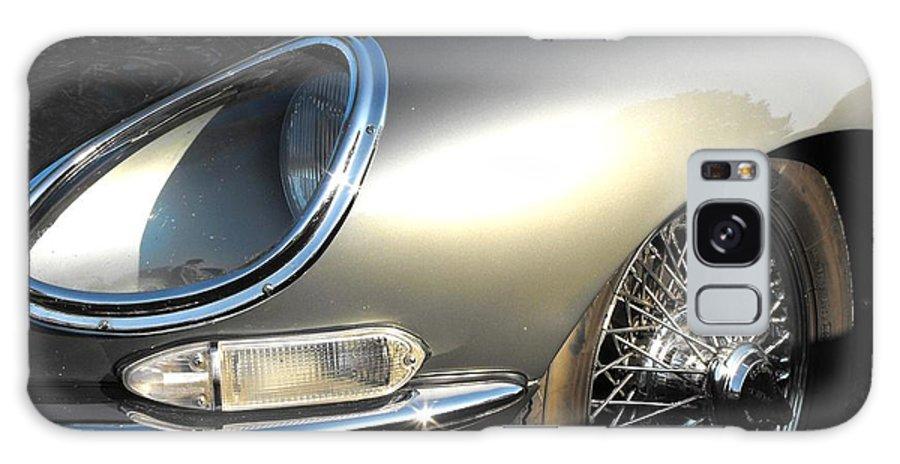 Jaguar Galaxy S8 Case featuring the photograph Jaguar E-type by Neil Zimmerman