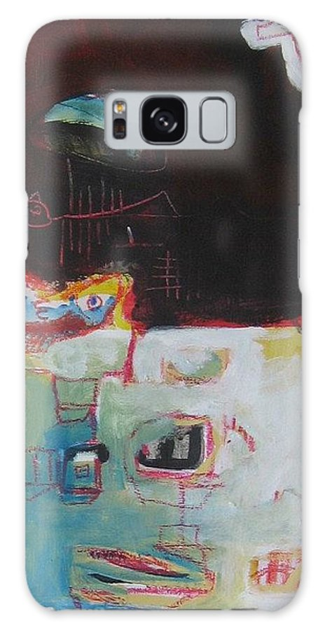 Abstract Paintings Galaxy S8 Case featuring the painting Little Bay by Seon-Jeong Kim