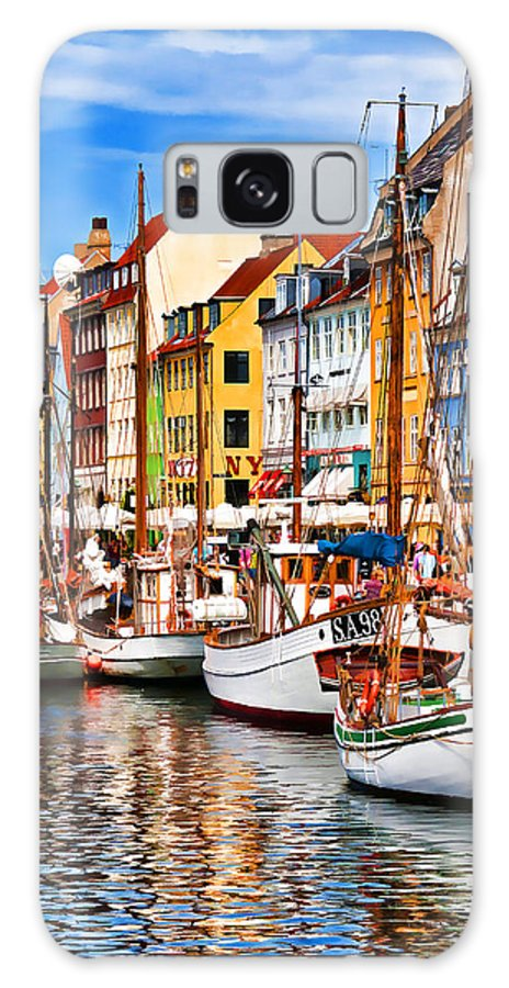 Europe Galaxy S8 Case featuring the photograph Nyhavn by Dennis Cox