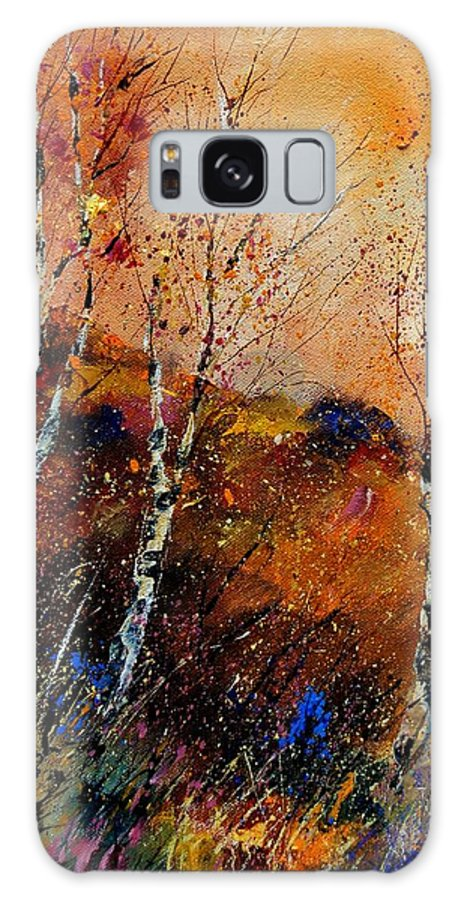 River Galaxy S8 Case featuring the painting 3 Poplars by Pol Ledent