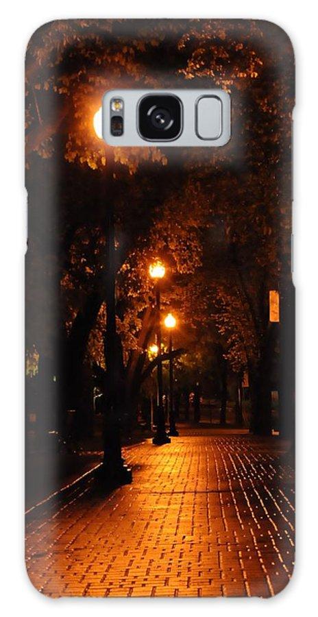Galaxy S8 Case featuring the drawing Saskatoon At Night by Cristina Sofineti