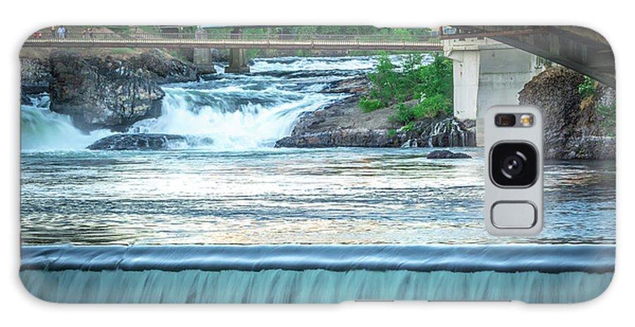 River Galaxy S8 Case featuring the photograph Scenes Around Spokane Washington Downtown by Alex Grichenko