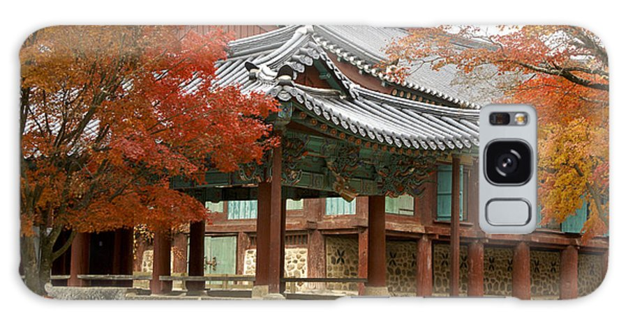 Korea Galaxy S8 Case featuring the photograph Seonamsa In Autumn by Michele Burgess