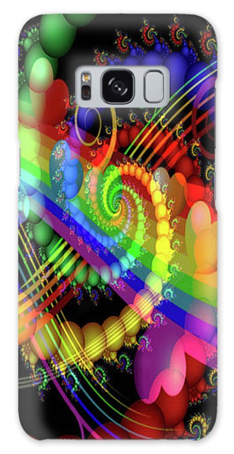Greeting Cards Galaxy S8 Case featuring the digital art Serenading Hearts by Mitchell Watrous
