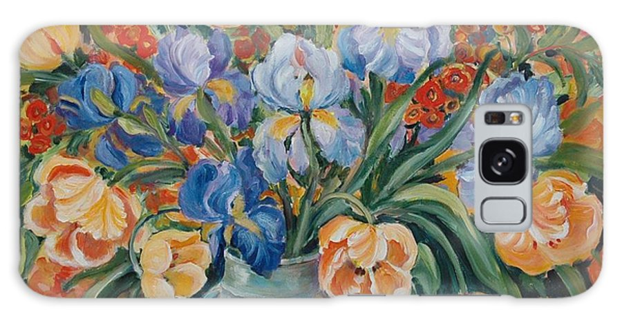 Still Life Galaxy S8 Case featuring the painting Tulips by Ingrid Dohm