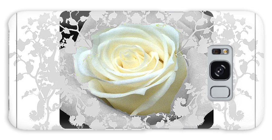 Moss Green Frame Galaxy S8 Case featuring the photograph Wedding Rose Collection by Debra   Vatalaro