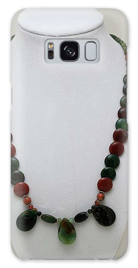 Handmade Galaxy S8 Case featuring the jewelry 3505 Fancy Jasper And Unakite Necklace by Teresa Mucha