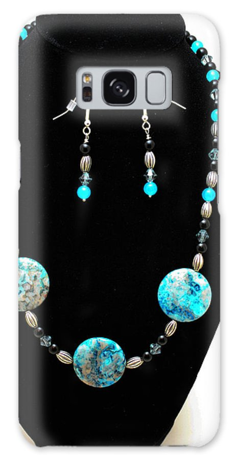 Jewelry Galaxy S8 Case featuring the jewelry 3517 Crazy Lace Agate Set by Teresa Mucha