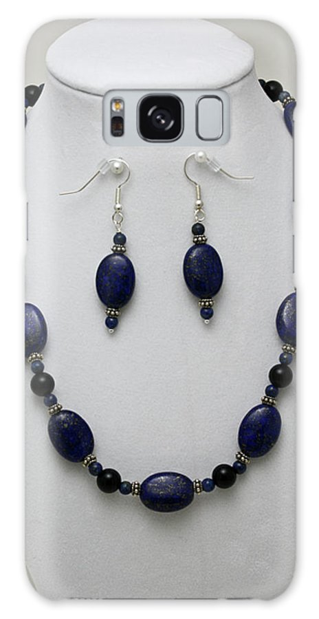 Handmade Galaxy S8 Case featuring the jewelry 3555 Lapis Lazuli Necklace And Earring Set by Teresa Mucha