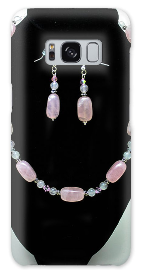 Jewelry Galaxy S8 Case featuring the jewelry 3558 Rose Quartz Set by Teresa Mucha