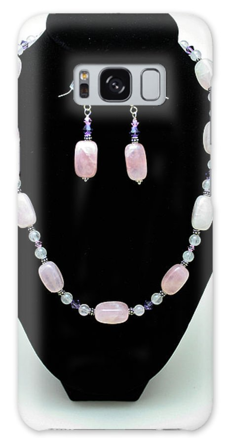 Jewelry Galaxy S8 Case featuring the jewelry 3560 Rose Quartz Necklace And Earrings Set by Teresa Mucha