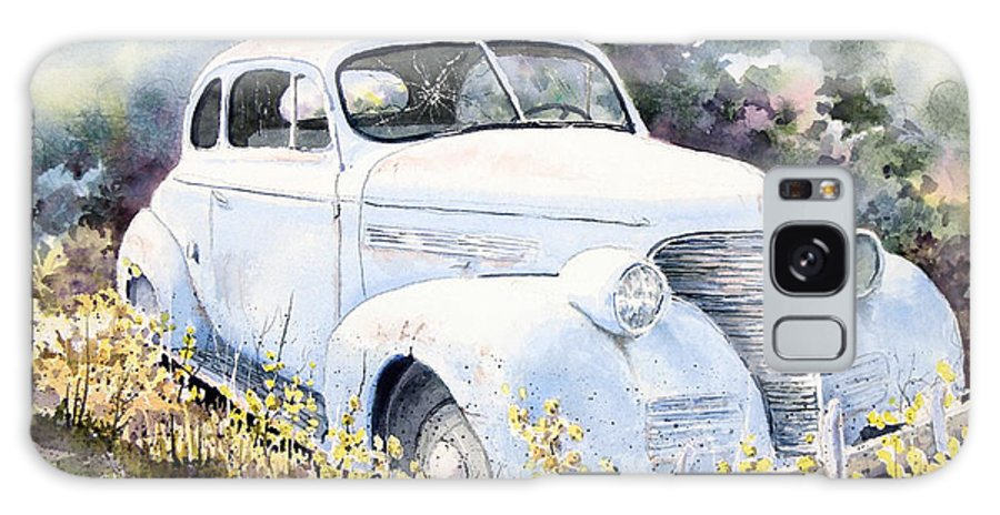 Automobile Galaxy S8 Case featuring the painting 39 Chevy by Sam Sidders