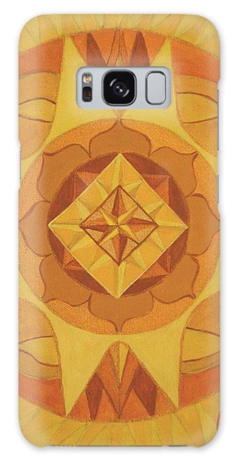 Mandala Galaxy S8 Case featuring the painting 3rd Mandala - Solar Plexus Chakra by Jennifer Christenson