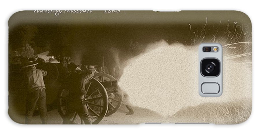 Sepia Galaxy S8 Case featuring the photograph 3rd Missouri Night Fire by David Dunham