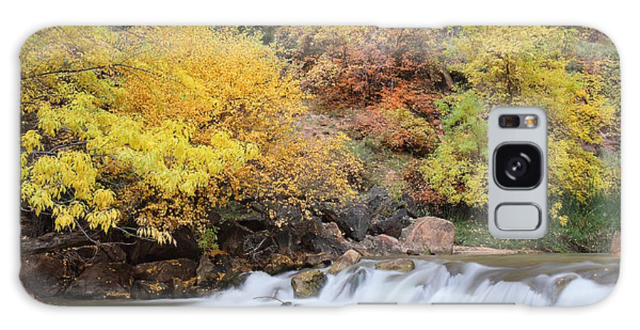 Zion Galaxy S8 Case featuring the photograph Autumn Foliage In Zion National Park by Pierre Leclerc Photography
