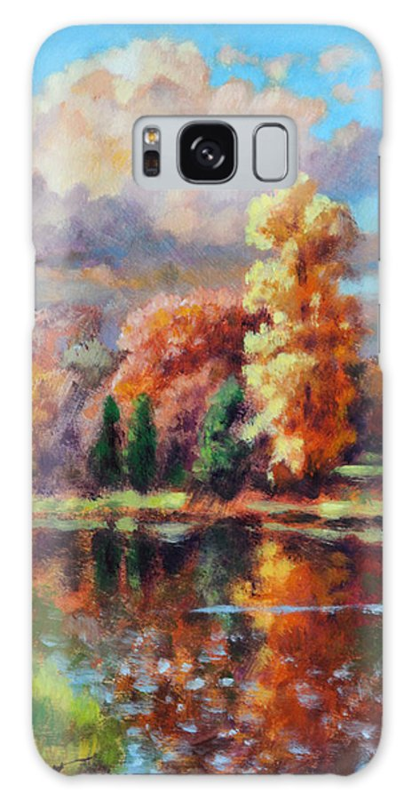 Fall Scenery Galaxy Case featuring the painting Fall in Missouri by John Lautermilch