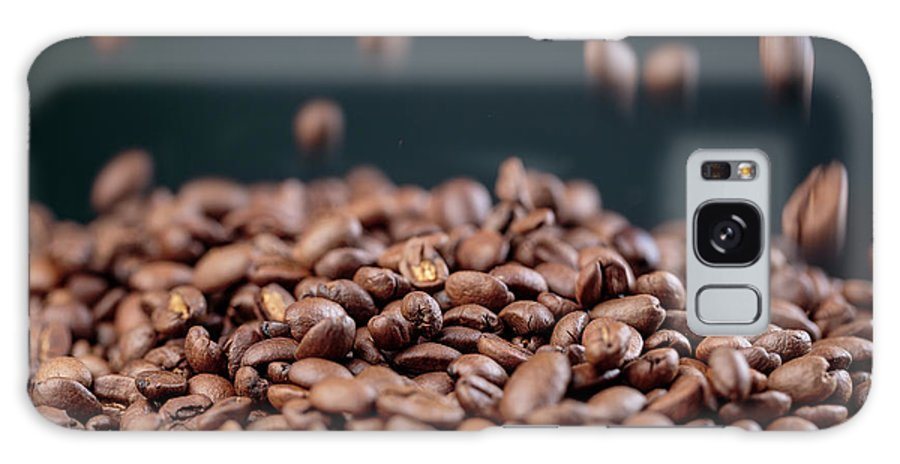 Coffee Galaxy Case featuring the photograph Fresh Roasted Coffe Beans by Nailia Schwarz