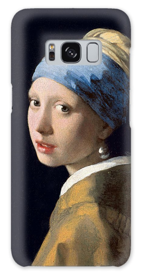 Jan Vermeer Galaxy S8 Case featuring the painting Girl With A Pearl Earring by Jan Vermeer