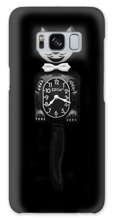 Black And White Galaxy S8 Case featuring the photograph Kit Cat Klock by Rob Hans