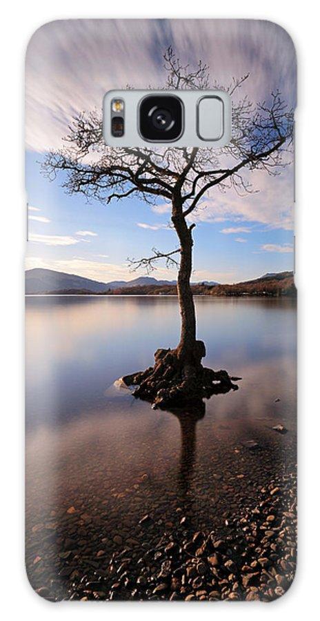 Tree Galaxy S8 Case featuring the photograph Loch Lomond Tree by Grant Glendinning