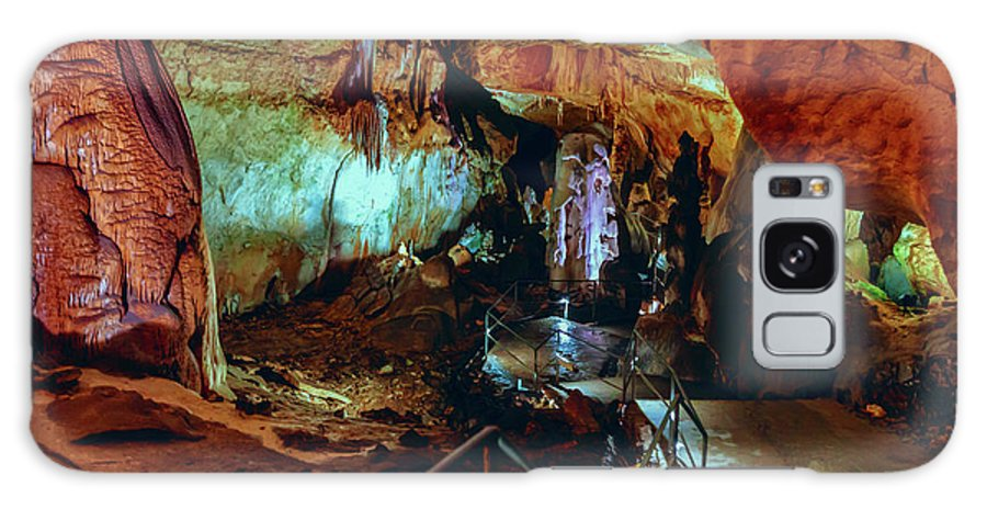 Cave Galaxy S8 Case featuring the photograph Marble Cave Crimea by Sergey Nosov