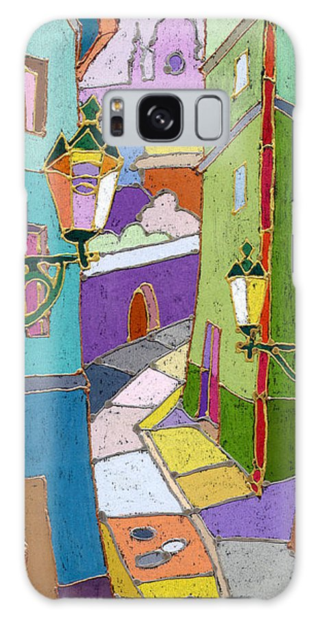 Pastel Galaxy S8 Case featuring the painting Prague Old Street by Yuriy Shevchuk