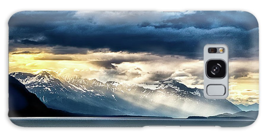 Sunset Galaxy S8 Case featuring the photograph Sunset In Alaskan Fjords In Mud Bay Near Sjagway by Alex Grichenko