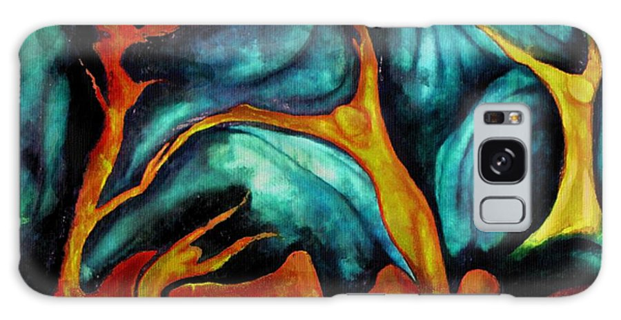 Soul Expression Words Thoughts Mind Connection Galaxy Case featuring the painting Untitled by Veronica Jackson