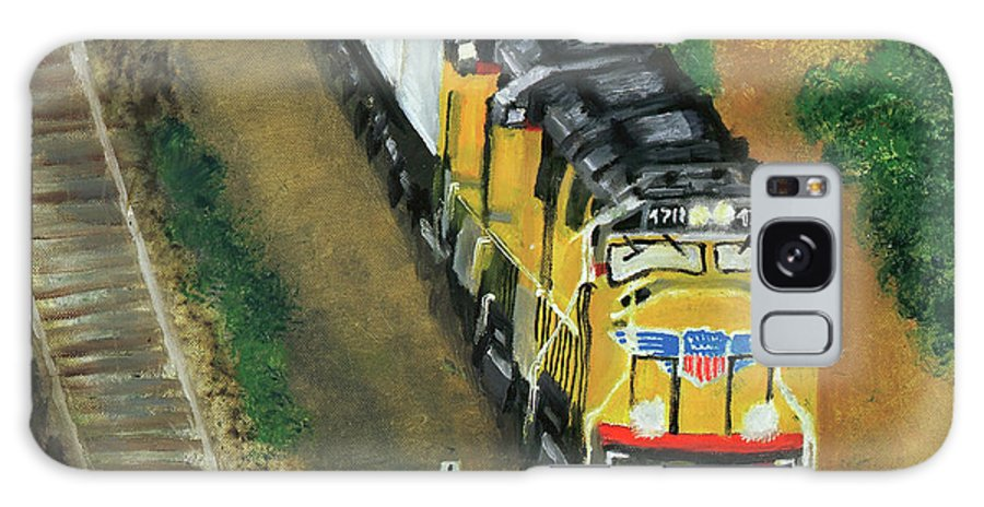 Train Galaxy S8 Case featuring the painting 4711 by Terry Lewey