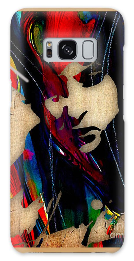 Bob Dylan Galaxy S8 Case featuring the mixed media Bob Dylan Collection by Marvin Blaine