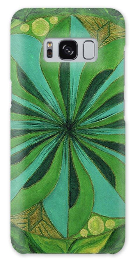 Mandala Galaxy S8 Case featuring the painting 4th Mandala - Heart Chakra by Jennifer Christenson
