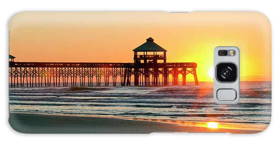 Folly Beach Pier Sunrise Galaxy S8 Case featuring the photograph Folly Beach Pier Sunrise by Dustin K Ryan