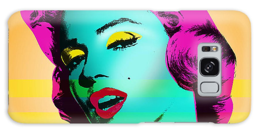 Pop Art Galaxy Case featuring the painting Marilyn Monroe by Mark Ashkenazi