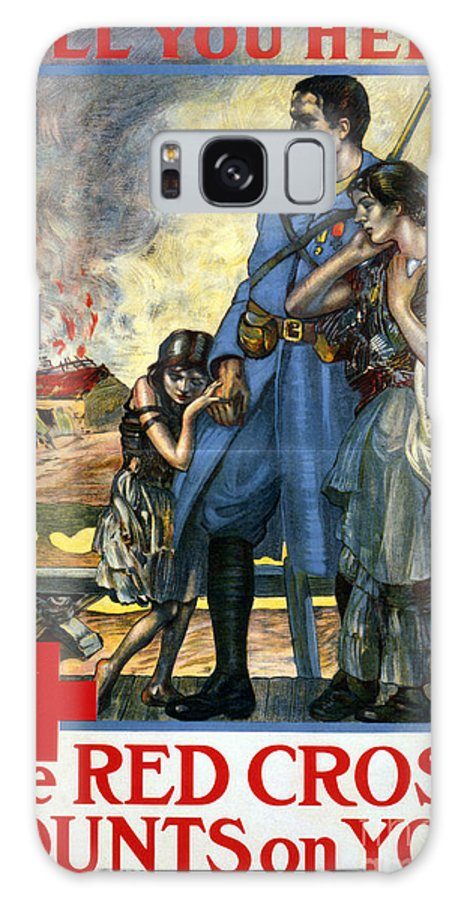 1917 Galaxy S8 Case featuring the photograph Red Cross Poster, 1917 by Granger