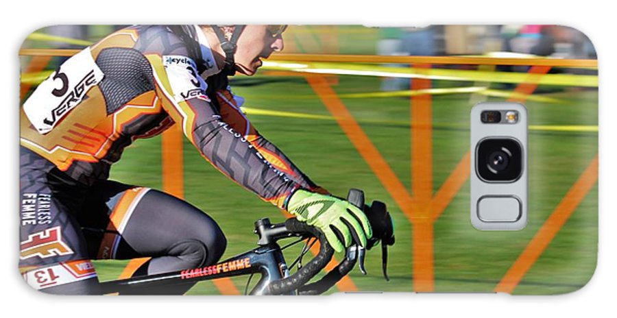 Fearless Femme Racing Galaxy S8 Case featuring the photograph Fearless Femme Racing by Donn Ingemie