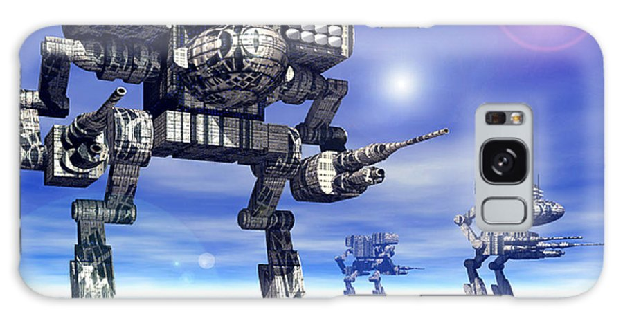 Science Fiction Galaxy S8 Case featuring the digital art 501st Mech Trinary by Curtiss Shaffer