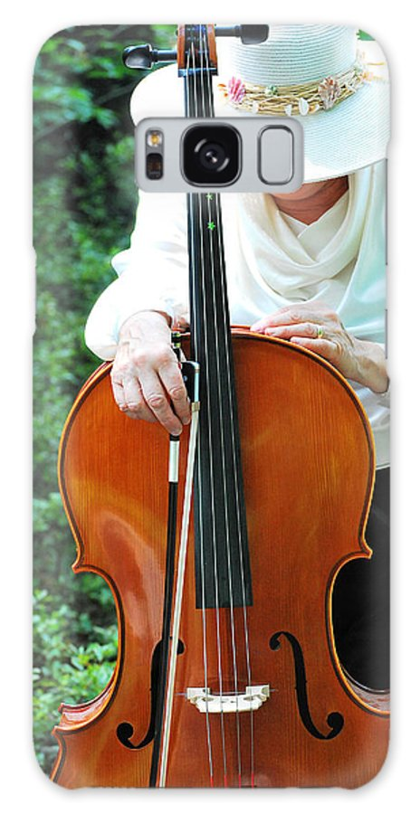 Mature Galaxy S8 Case featuring the photograph Female Cellist. by Oscar Williams
