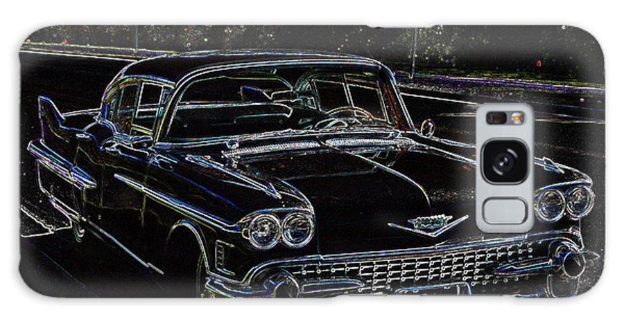 1958 Cadillac Fleetwood 60 Special 4 Door Car Automobile Vehicles Classic Ride Antique Galaxy S8 Case featuring the photograph 58 Fleetwood by Andrea Lawrence