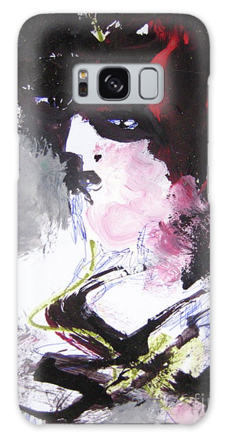 Sjkim Art Galaxy S8 Case featuring the painting Abstract Figure Art by Seon-jeong Kim