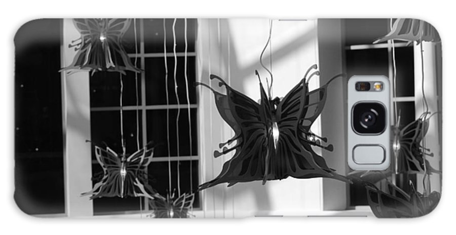 Black And White Galaxy S8 Case featuring the photograph Hanging Butterflies by Rob Hans