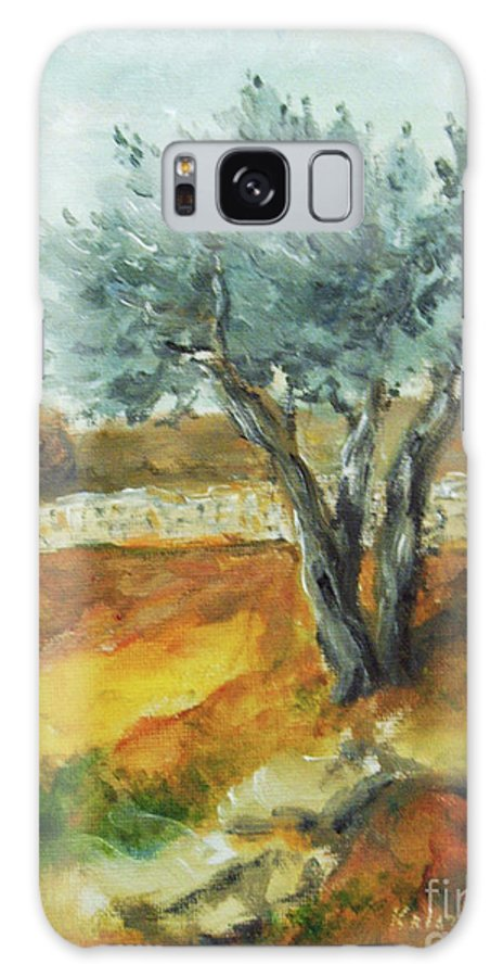 Olive Tree Galaxy S8 Case featuring the painting Olive Tree by Kristina Valic