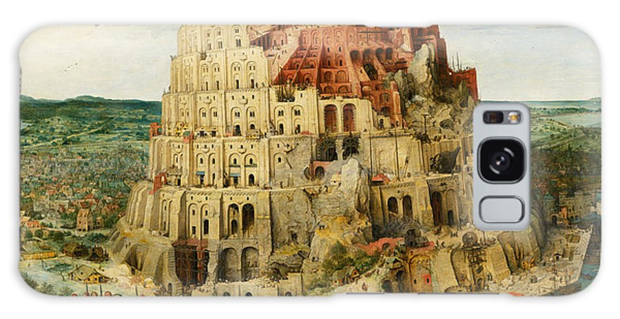 Netherlandish Painters Galaxy Case featuring the painting The Tower Of Babel by Pieter Bruegel the Elder